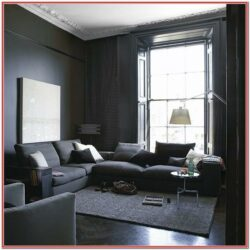 Dark Grey Sleek Living Room Ideas