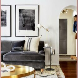 Dark Grey Velvet Sofa Living Room Ideas