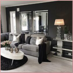 Dark Grey Wall Living Room Ideas