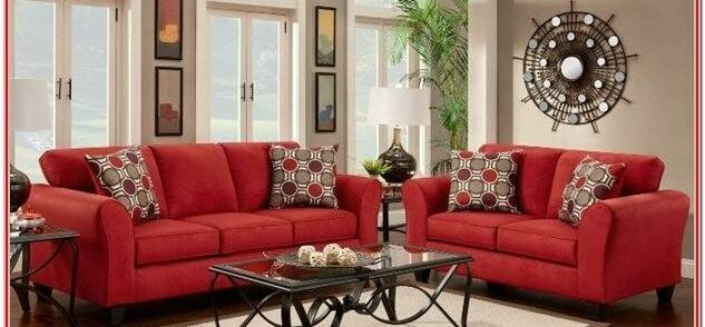 Dark Red Couch Living Room Ideas