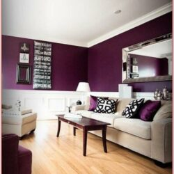 Deep Purple Living Room Ideas 1