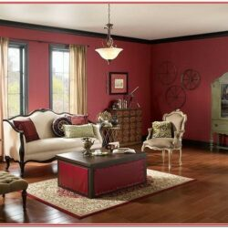 Deep Red Living Room Ideas