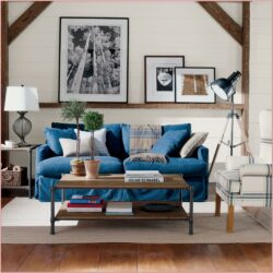Denim Sofa Slipcovet Living Room Ideas
