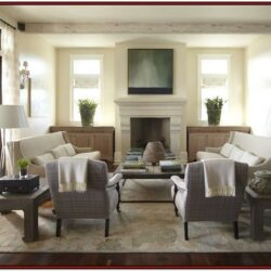 Double Sofa And Wingback Living Room Idea