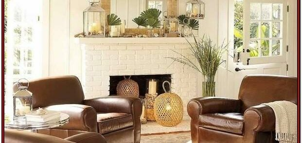 Drak Brown Leather Couch Living Room Ideas