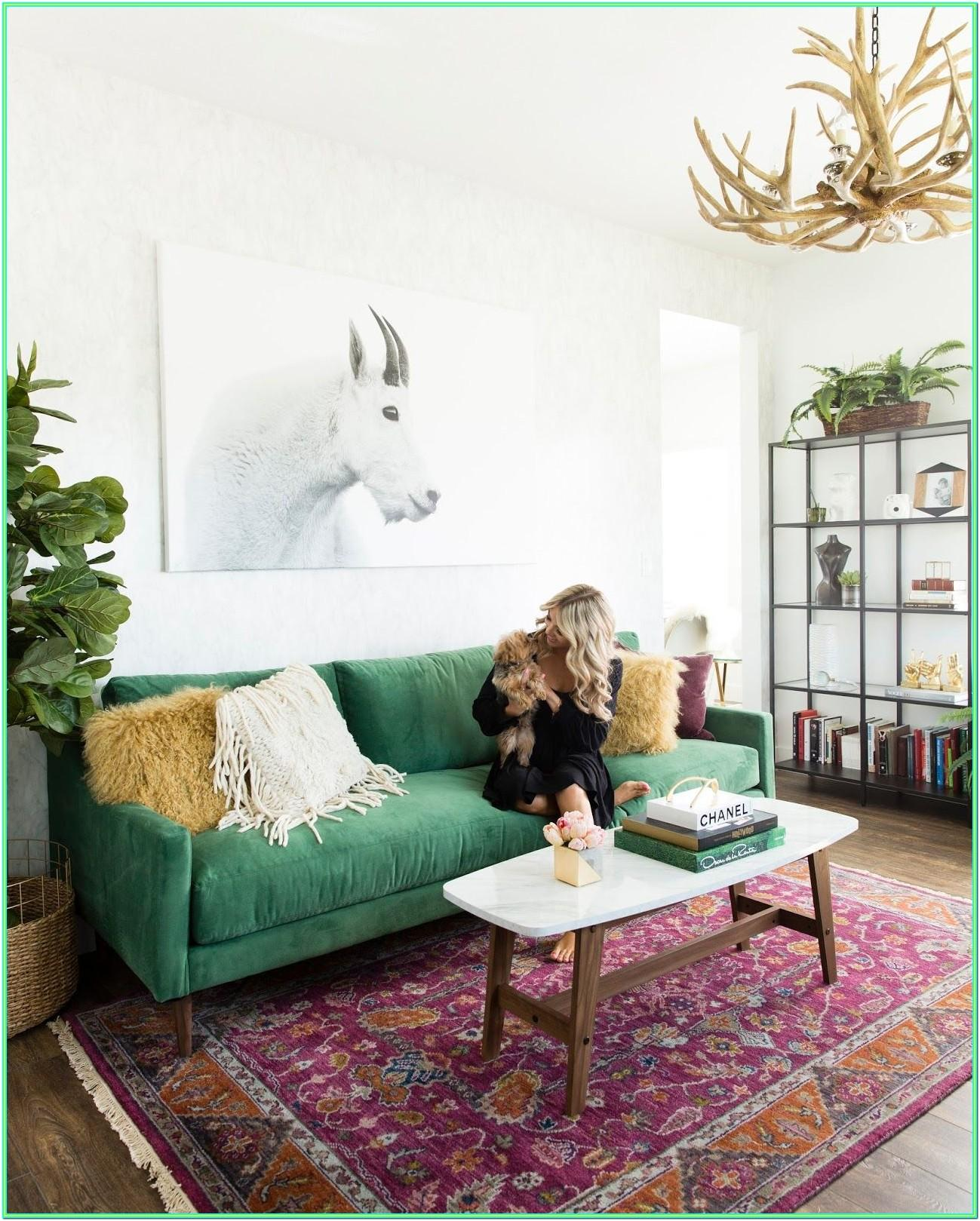 Emerald Green And Brown Living Room Ideas