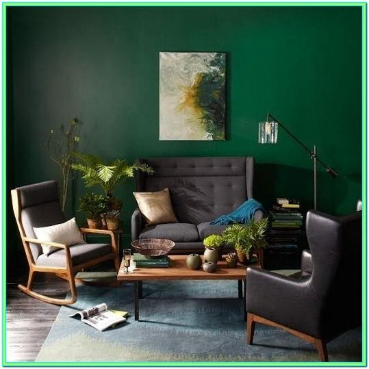 Emerald Green And White Living Room Ideas