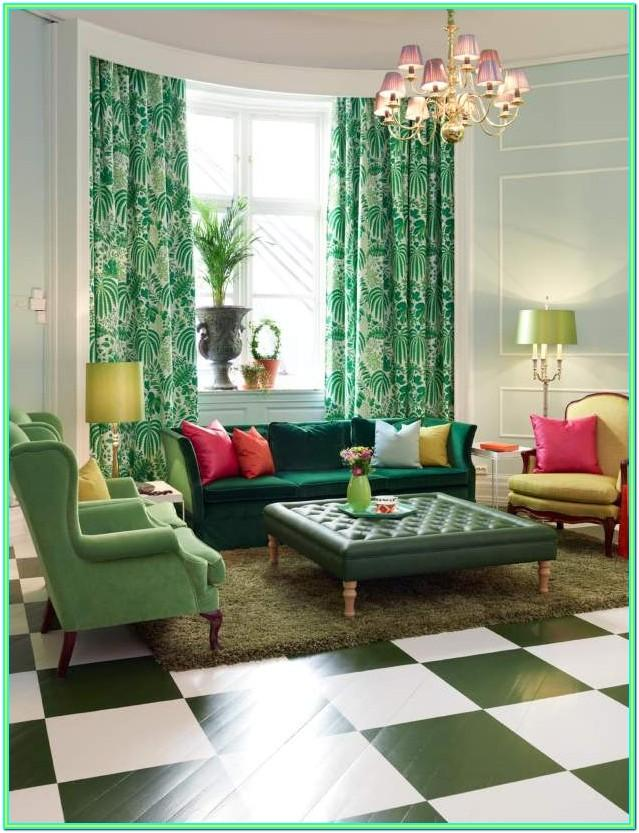 emerald green green living room ideas decorating