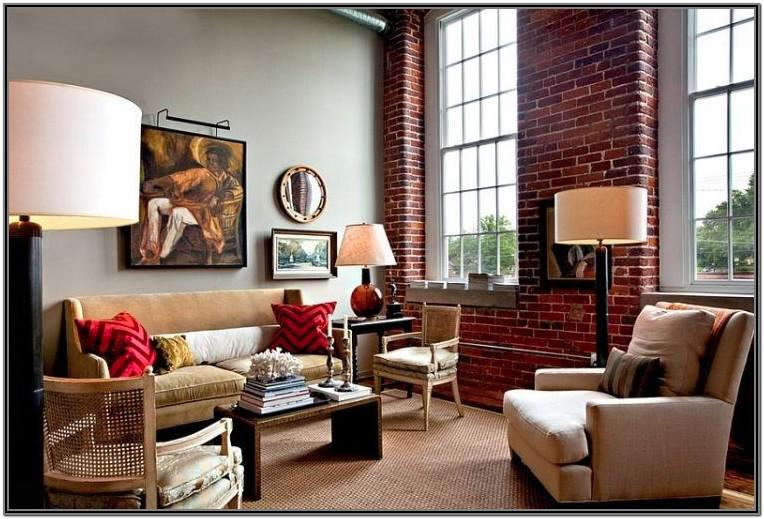 Exposed Brick Wall Living Room Ideas