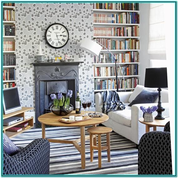 Fireplace Cosy Grey Living Room Ideas