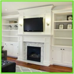 Fireplace Ideas Living Room Stone Bookshelf