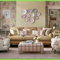 Floral Wallpaper Living Room Ideas