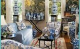 French Country Blue Living Room Ideas