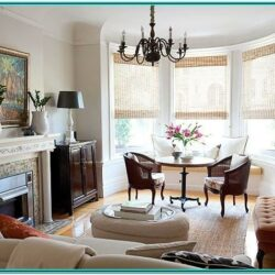 Front Living Room Window Treatment Ideas