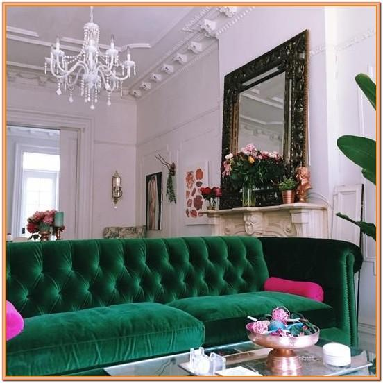 Green Chesterfield Living Room Ideas