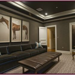 Grey Basement Living Room Ideas