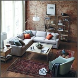 Grey Brick Wall Living Room Ideas