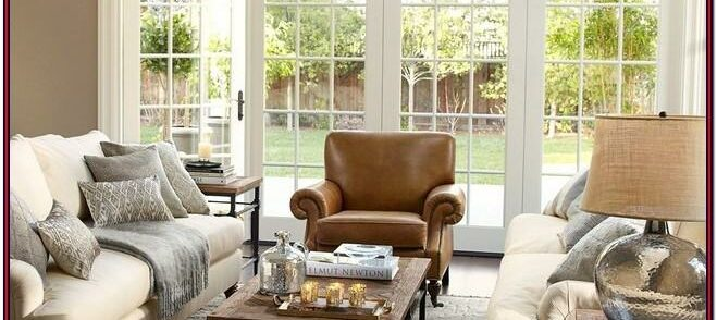 Leather Pottery Barn Living Room Ideas