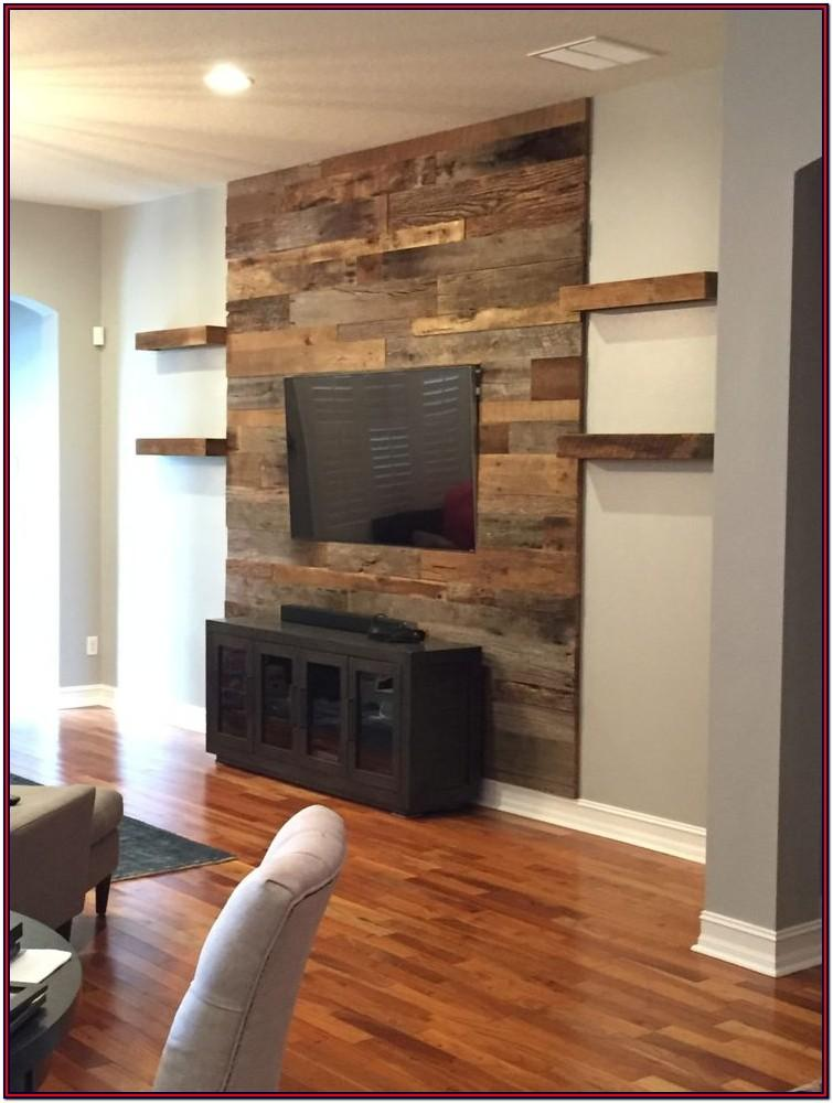 Living Room Barnwood Wall Ideas