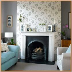 Living Room Chimney Breast Feature Wall Ideas