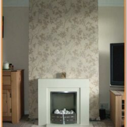 Living Room Chimney Breast Wallpaper Ideas