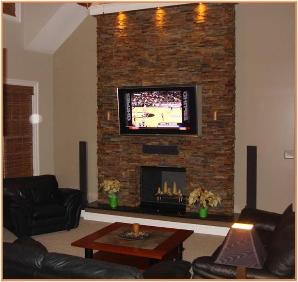 Living Room Chimney Wall Ideas