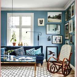 Living Room Design Ideas Blue Walls