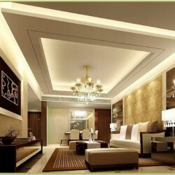 Living Room False Ceiling Paint Ideas