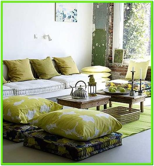 Living Room Floor Cushion Seating Ideas