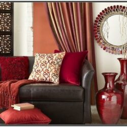Living Room Ideas Brown Sofa With Red
