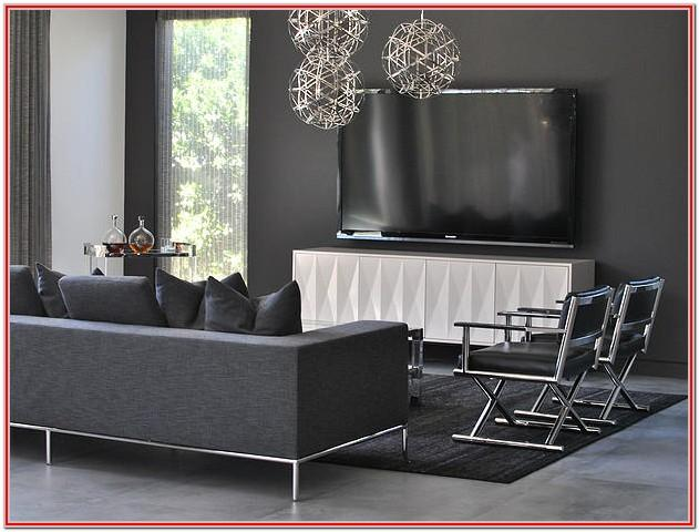 Modern Dark Grey Sofa Living Room Ideas