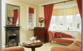 Red Cream Brown Living Room Ideas