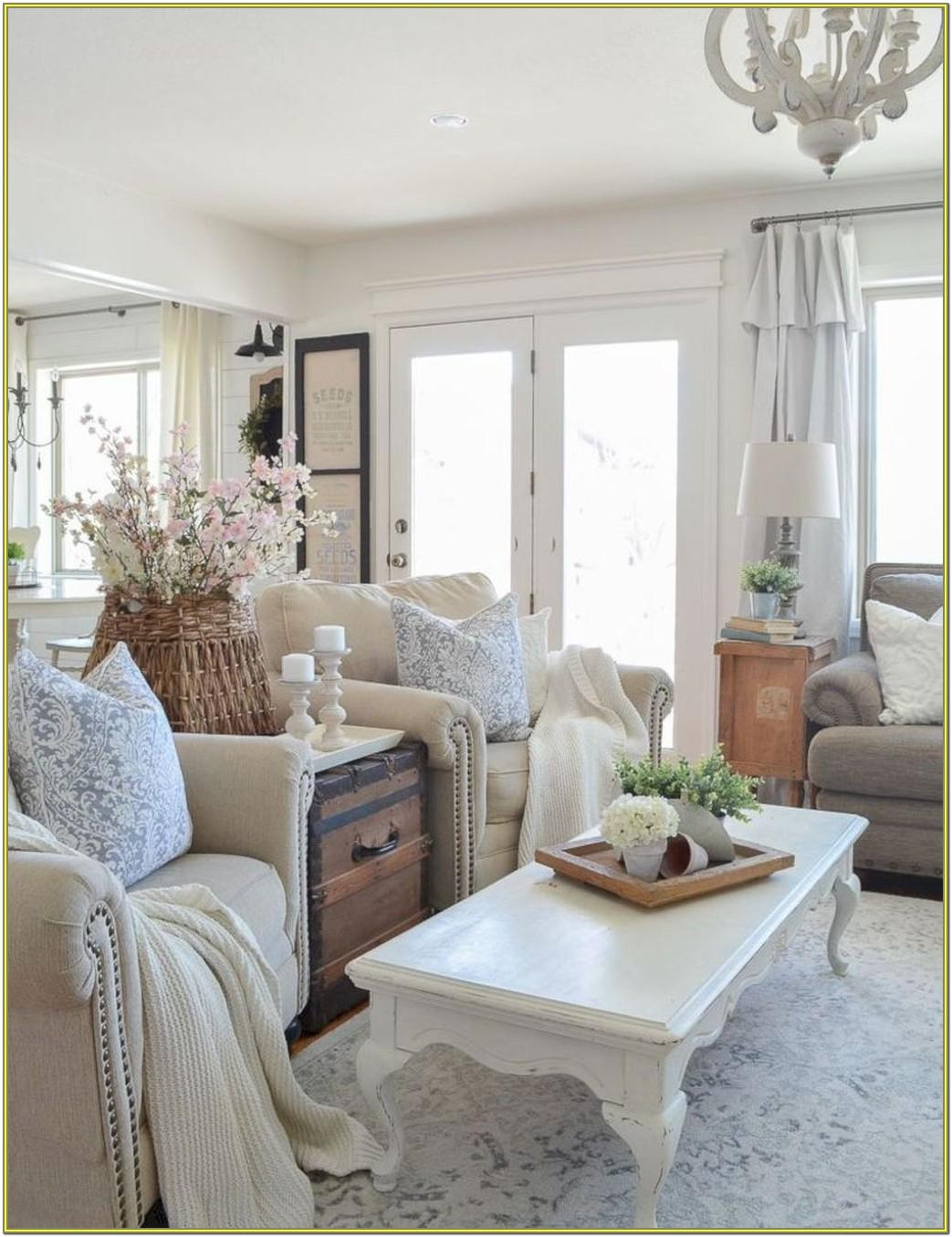 Shabby Chic Farmhouse Living Room Ideas