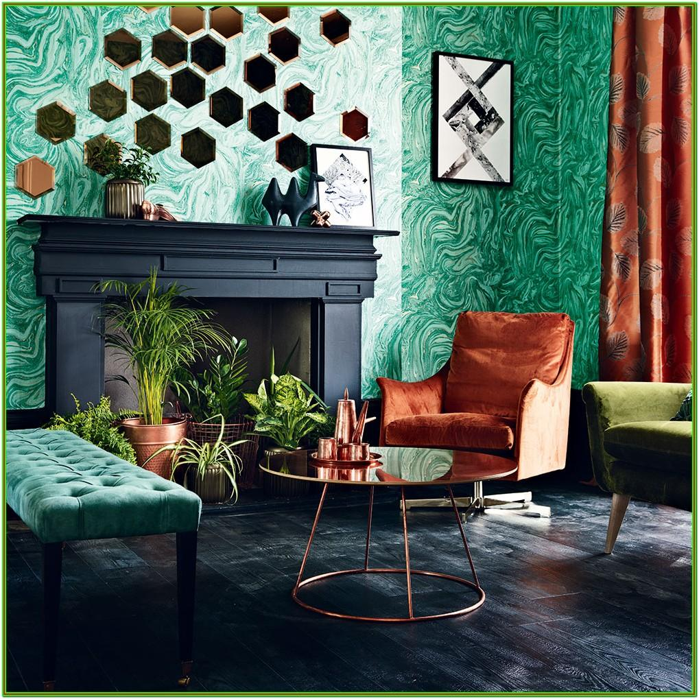 black and copper living room ideas