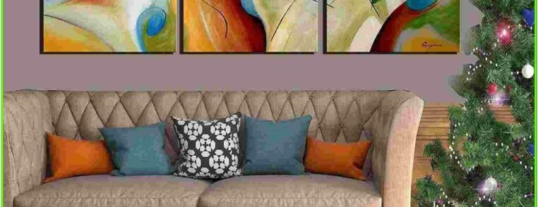 Canvas Living Room Canvas Abstract Painting Ideas