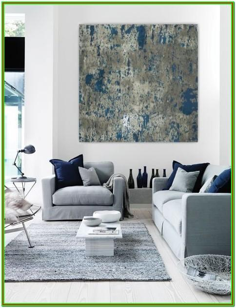 Contemporary Blue And White Living Room Ideas