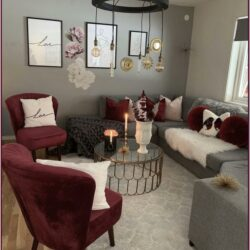 Gray And Burgundy Living Room Ideas