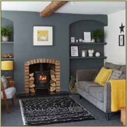Grey Red And Yellow Living Room Ideas
