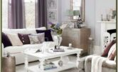 Grey White And Lavender Living Room Ideas