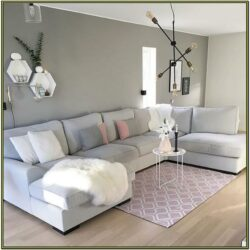 Grey White And Pink Living Room Ideas