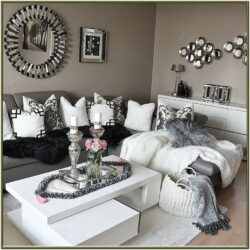 Grey White And Silver Living Room Ideas