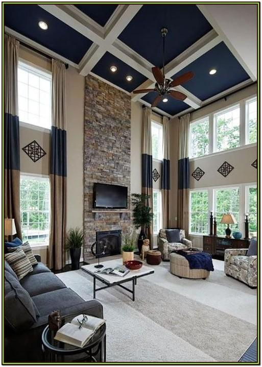 High Ceiling Living Room Curtain Ideas