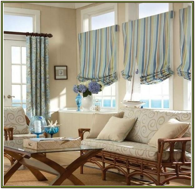 Homemade Modern Living Room Valance Ideas