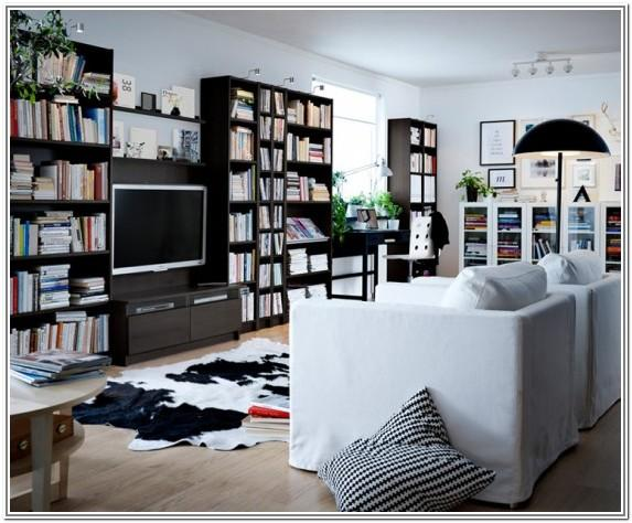 ikea living room library ideas
