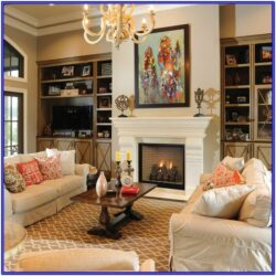 Irregular Living Room Ideas With Fireplace