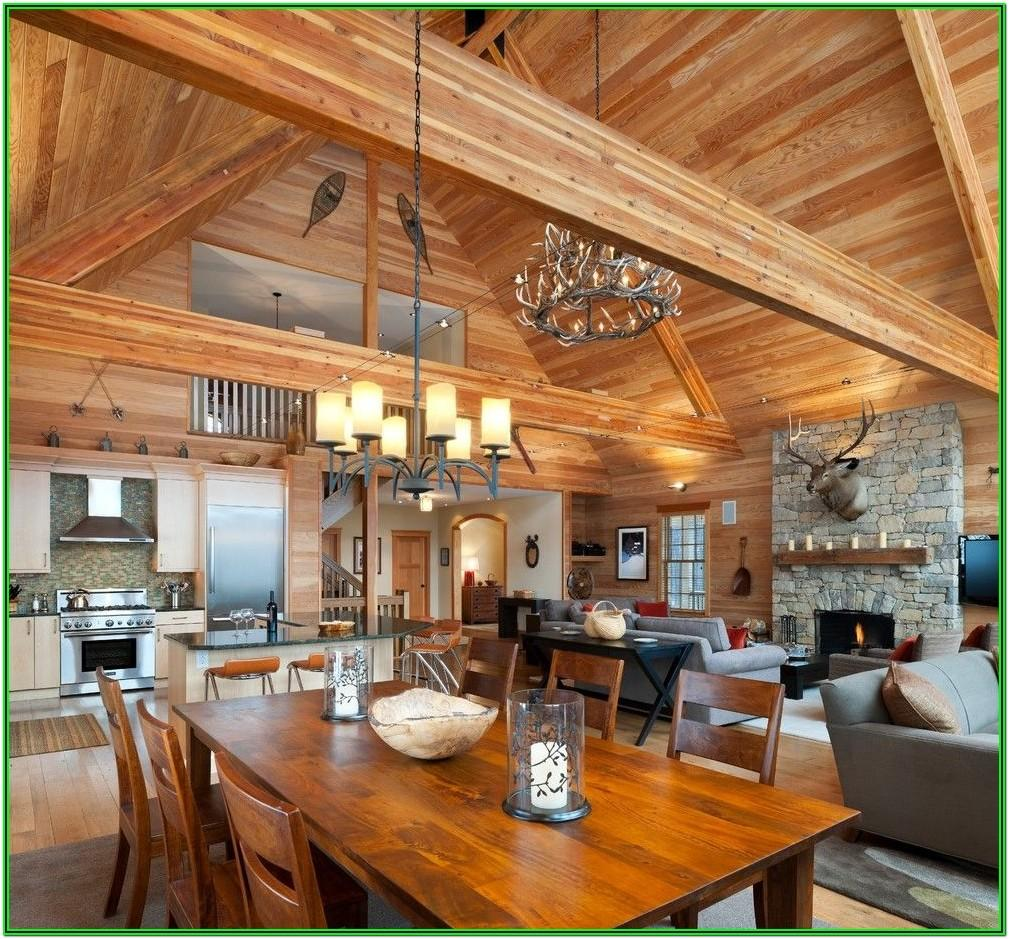 Kitchen Living Room Ideas Cabin