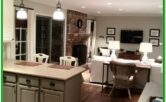 Kitchen To Living Room Transition Ideas
