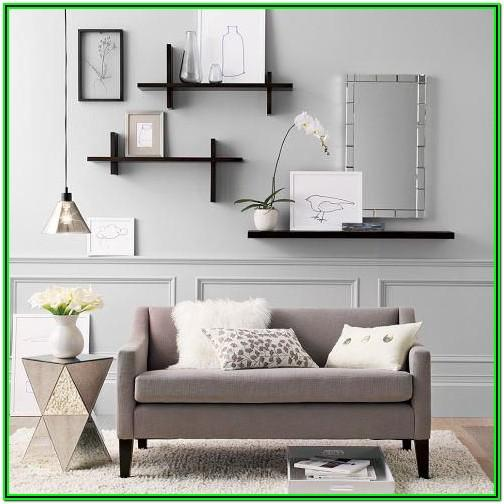 Large Floating Shelves Ideas Living Room