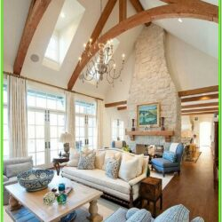 Living Room Cathedral Ceiling Finish Ideas