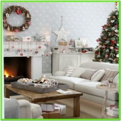Living Room Christms Lights Ideas